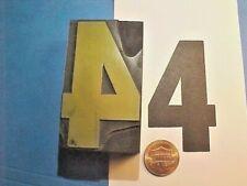 Big Number Four 4 No 4 Numeral Four 1 12 X 2 58 Letterpress Printers Cut