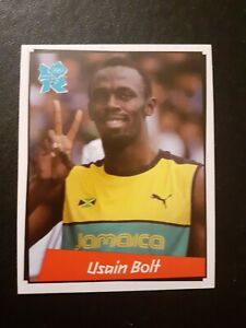 USAIN BOLT PANINI STICKER LONDON 2012 OLYMPICS ROOKIE #267 New and Unused