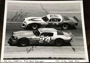 Mark Martin #02 1979 ASA CHAMPION Dave Jensen RACING HOF signed 8x10 photo 1/1