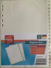 DIN A4 Überbreite Buchstabenregister A-Z Register ABC 20tlg