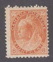 "Canada MINT OG Scott #82  8 cent orange  ""QV Numeral""  F"
