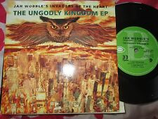 Jah Wobble's Invaders Of The Heart ‎– The Ungodly Kingdom EP  Vinyl 7inch Single