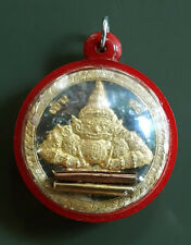 Real Thai Miracle Magic Hindu Amulet Lp Noi Wat Sresatong Rahu Om Jun Moon