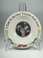 Vintage Kelloggs Cereal Bowl I Can Eat A Tank-full Too 1996
