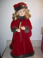 "Vtg 24"" 1997 deluxe animated holiday Caroler motion-ettes holiday time   1365"