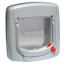 PetSafe Staywell Draught Resistant Deluxe Manual 4 Way Locking Cat Flap White