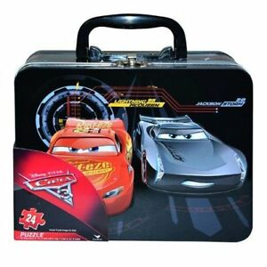 Tin Lunch Box Disney Pixar Cars w/ Puzzle: McQueen, Storm, Ships Anywhere Today!