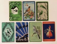 7 Vintage Playing Cards ~ Birds ~ Birdcage/Birdhouse/Nest with Chicks ~1 Swap