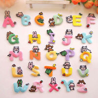 AU_ HN- CG_ KF_ 26 Letters Embroidery Patches Set Iron-On Sewing Applique Clothe