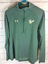 Under Armour Shirt Sz L Univ So. Florida Loose Heat Gear Green Striped (Q57)
