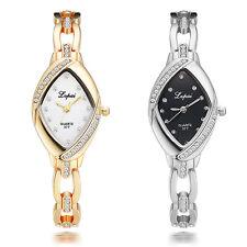 Women Rhinestone Hollow Band Dial Quartz Analog Bracelet Wrist Watch Ideal Gift