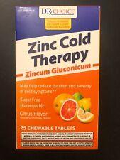ZINC COLD THERAPY 25 Chewable Tablets CITRUS Generic Zicam Rapid Melts