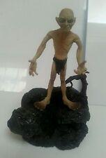 """LOTR - Gollum Figure & Stand Sounds 5"""" Marvel 2003 Works JRR Tolkien Vintage Toy"""