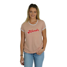 8dfd79fc312c New Women's Afends Chime Standard Fit Ringer Tee Short Top Rose & White