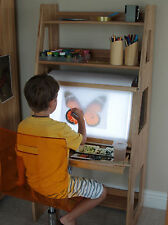 WOODQUAIL Kids Drawing LED Board Easel, Arts and Crafts for Children