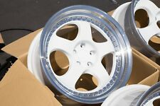 19X9.5 F: +12 R: +22 VARRSTOEN ES6 5X114.3 WHITE WHEELS (OPEN BOX) FITS 350Z G35