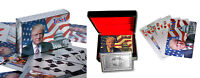 Donald Trump Playing Cards - 24K Silver Plated Commemorative Edition...