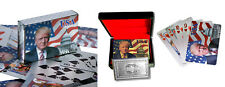 Donald Trump Playing Cards - 24K Silver Plated Commemorative Edition.