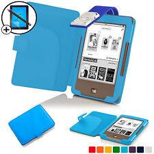 AZZURRO CIELO Smart Cover con custodia in pelle LED Luce di lettura Tolino