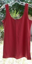 Women's Form Fitted Tank Top ROSE/Mellon  sz X-SMALL by Fake & Fusion Cotton