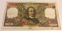 France Banknote. 100 Francs. Dated 1976. Vintage Note.