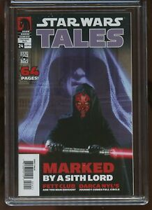 STAR WARS TALES #24 CGC GRADED 9.8 WHITE PAGES 2005 PHOTO CVR 1st DARTH NIHILUS