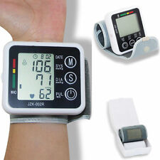 Digital LCD Wrist Blood Pressure Monitor Heart Beat Rate Pulse Meter Measure