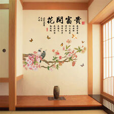 Chinese Flower Birds Room Home Decor Removable Wall Stickers Decals Decoration