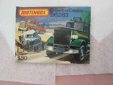 Year 1982-1983 Matchbox 52 Page Collector's Catalog Advertisement Brochure Minty