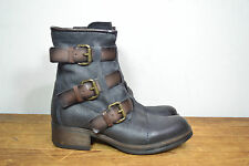 Fred Segal Black / Brown Leather Fashion Ankle Boots, Wm's 8.5 / 39