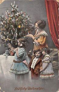BG8363 family children tree girl  weihnachten christmas  greetings germany