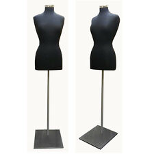 Black Female Dress Body Form With Metal Base