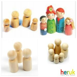 Wooden peg Doll  Wooden Peg  Family  Montessori Waldorf