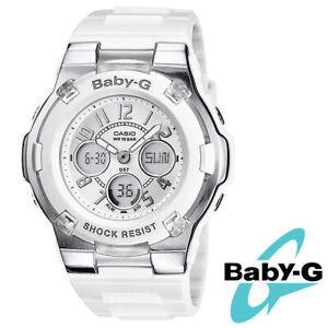 Casio Ladies Unisex Watch Baby-G BGA-110-7BER Shock RESIST Calendar White Sport