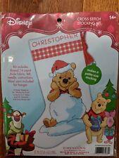 """Dimensions Disney Cross Stitch Stocking Kit """"WINNIE THE POOH"""" 70-08968 NEW !!"""