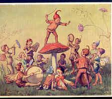 """ELFIN CHORUS"" MUSICAL FAIRY CONDUCTOR DIRECTS BAND,PIXIES,ELF,TARRANT POSTCARD"