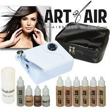 Art of Air Professional Airbrush Cosmetic Makeup Kit / Fair to Medium Shades