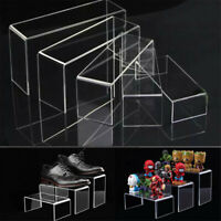 5pcs Super Deal Clear Acrylic Perspex Sturdy Jewellery Display Riser Stand GN