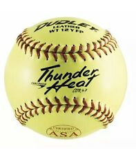 Dudley 43-147P Thunder Heat Fast-Pitch Softball, Yellow, 12-in Ag00245