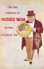 A4743) CON UNA SCATOLA DI PASTIGLIE VALDA NON TOSSIRETE PIU'. ILLUSTRATORE POMI.