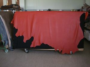 1 Lederhaut, Rindnappaleder, gedeckt orange ca.5,56 qm,1,4 - 1,6 mm