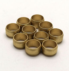 NEW 10mm compression Brass olives pack of 50, plumbing, DIY, water, UK seller