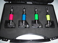 4 x  Bite Indicators / hangers in case. Red, Yellow, Green & Blue.