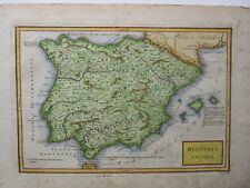 Antique Map of Spain by Christoph Cellarius 1789