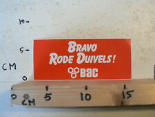 STICKER,DECAL BRAVO RODE DUIVELS BAC VOETBAL ? SOCCER ? A