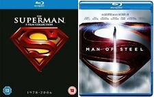 SUPERMAN Complete Collection Bluray Box Movies Part 1+2+3+4+Returns+Man of Steel