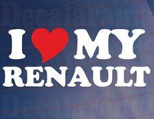I LOVE/HEART MY RENAULT Novelty Car/Van/Window/Bumper Vinyl Sticker/Decal