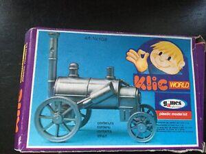 Klicworld Plastic Model Steam Engine Kit - Vintage Toy
