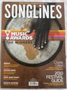 Songlines Issue 68 June 2010 Charlie Gillett Tribute, Mulatu Astatke, Rango