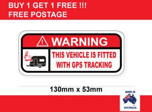 GPS Warning sticker for RV campervan